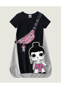 Vestido Lol Surprise® Cotton Malwee Kids Cinza - 8
