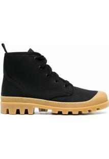 Gia Couture Bota Perni Com Cadarço - 06A1 Black