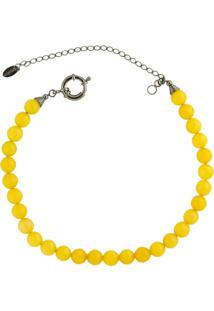 Colar La Madame Co Colar Choker Amarelo - Amarelo - Feminino - Dafiti