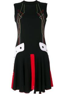 Versus Mini Vestido Bordado - Preto