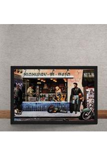 Quadro Decorativo Ilustracao Elvis Na Rua 25X35