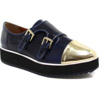65bafc0e1 Sapato Oxford Zariff Shoes Flatform Monk Strap
