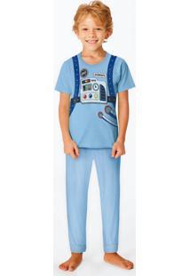 Pijama Azul Claro Space Man Menino