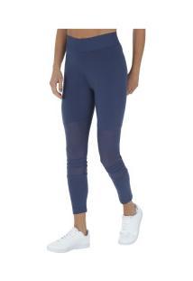 Calça Legging Adidas Id Mesh - Feminina - Azul Escuro ceb6701d4fb