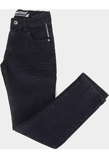 Calça Jeans Juvenil Gansgter Black Jeans Masculina - Masculino-Azul