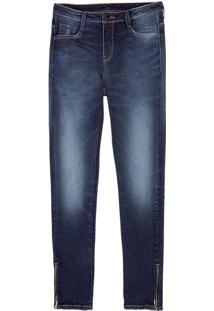 Calça Jeans Feminina Com Zíper Na Barra Eco Edition e8a5e7c0b8
