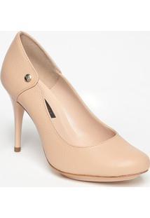 Sapato Em Couro Com Recortes- Nude- Salto: 10Cmjorge Bischoff