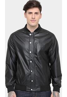Jaqueta New Era Nfl Fake Leather Oakland Raider Masculina - Masculino