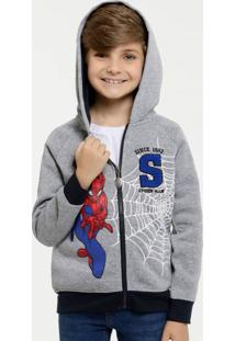 Casaco Infantil Moletom Estampa Homem Aranha Marvel
