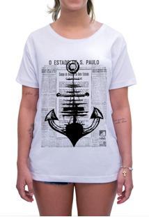 Camiseta Estampada Impermanence Âncora Branca