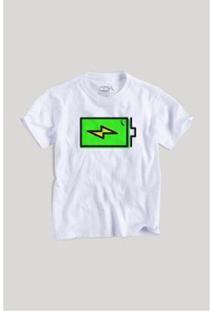 Camiseta Infantil Pilha Reserva Mini Masculina - Masculino