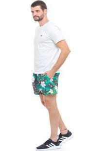 Bermuda De Praia Tactel D'Affari Masculina - Masculino-Verde