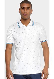 c7d9ec869ef91 Camisa Polo Broken Rules Mini Print Geométrico Masculina - Masculino