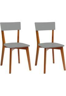 Conjunto Com 2 Cadeiras Tóquio Mel E Cinza