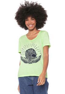 Camiseta Oh, Boy! Estampada Verde