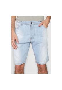 Bermuda Jeans Sergio K Reta Estonada Azul