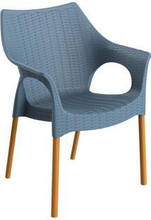 Cadeira Relic Com Braço Lazuli E Madeira