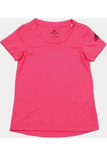 Camiseta Infantil Adidas Yg Prime Feminina - Feminino-Rosa