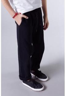 Calça Infantil De Moletom Basica Reserva Mini Masculina - Masculino-Preto