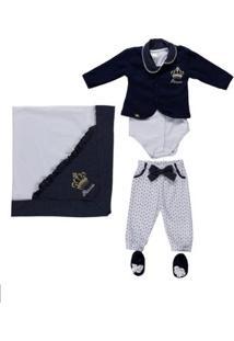 Enxoval Infantil Para Bebê Menina - Azul Marinho