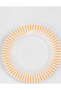 Prato Para Sobremesa Porcelana Schmidt - Dec. Sol Laranja