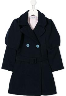 Vivetta Kids Belted Double Breasted Coat - Azul