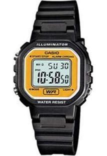 Relógio Feminino Casio Digital - Unissex-Preto+Amarelo