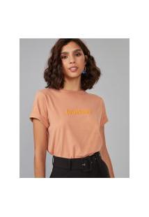 Amaro Feminino T-Shirt Fearless, Laranja Queimado