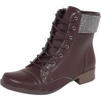 522a21cfd Bota Coturno Dafiti Shoes Bico Redondo Marrom