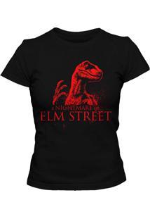 Camiseta Blitzart Nightmare On Raptor Street - Preta