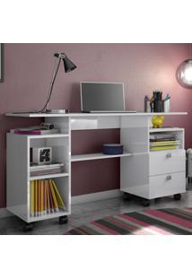 Mesa Para Computador C215 Bb Branco Brilho - Dalla Costa