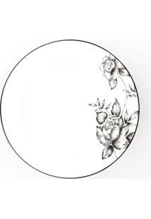 Conjunto De Pratos Fundos Porcelana Schmidt 06 Peças - Dec. Laura