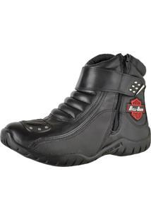 Bota Motoqueiro Em Couro Bell Boots Preta