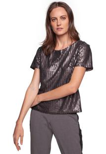 T-Shirt Nova D Paete Granito Cinza