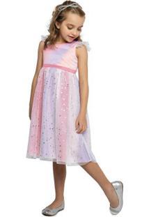 Vestido Rosa Menina Tie Dye