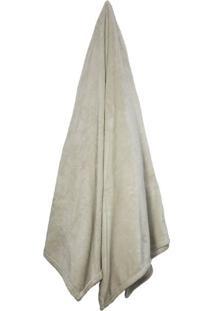 Cobertor Queen Velour Bege