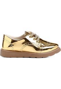 Sapato Klassipé Metalizado Infantil - Feminino