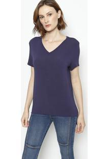 Camiseta Lisa- Azul Marinhoenna