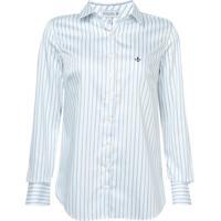b4373fc81 Camisa Dudalina Manga Longa Cetim Fio Tinto Feminina (Listrado, 38)