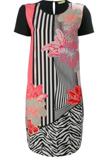 Versace Jeans Vestido Floral - Preto