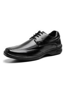 Sapato Social Masculino Bico Quadrado Cadarço Dia A Dia