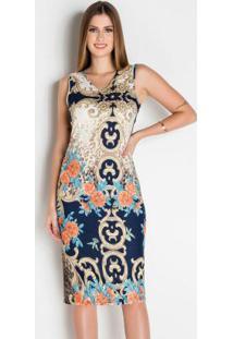 Vestido Tubinho Arabescos Moda Evangélica