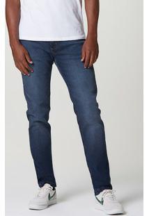 Calça Jeans Masculina Slim Com Elastano