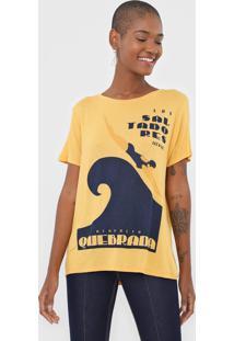 Camiseta Lez A Lez Saltadores Amarela - Amarelo - Feminino - Viscose - Dafiti