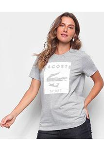Camiseta Lacoste Mosaico Sport Feminina - Feminino