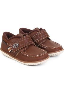 Sapato Infantil Klin Cravinho Masculino - Masculino-Caramelo