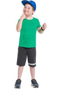 Conjunto Infantil Menino Brandili Verde