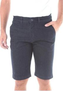Bermuda Jeans Traymon Chino Regular Com Elastano Masculina - Masculino-Marinho