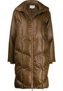 Vince Quilted Puffer Coat - Marrom