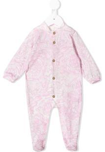 Young Versace Pijama Com Estampa Floral - Rosa